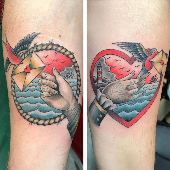 His and Hers Tattoos 78