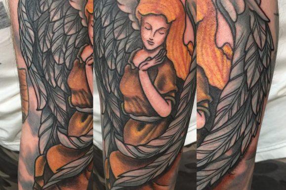 110+ Amazingly Elegant Guardian Angel Tattoos – Designs & Meanings (2020)