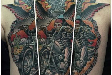 85+ Fearless Outlaw Biker Tattoo Designs – For Brutal Men