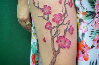 75+ Fantastic Japanese Cherry Blossom Tattoo – Designs & Meanings 2017