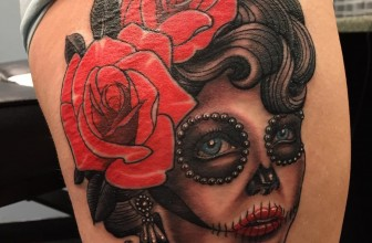 70+ Eye-Catching Day of the Dead Tattoos – Faces, Skulls, Girls…