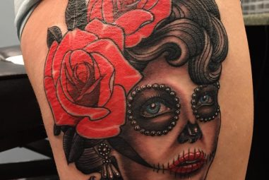 90+ Eye-Catching Day of the Dead Tattoos – Faces, Skulls, Girls…