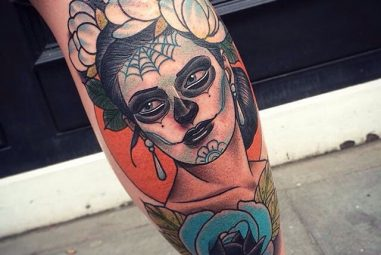 90+ Eye-Catching Day of the Dead Tattoos -Designs & Meanings (2017)