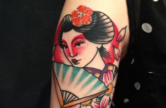 70+ Colorful Japanese Geisha Tattoos – Meanings and Designs (2018)