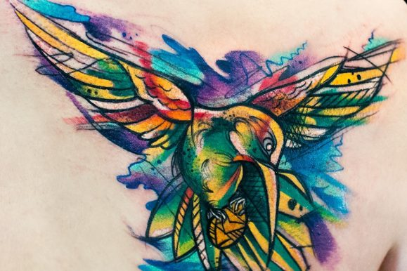 80+ Stunning Watercolor Hummingbird Tattoo – Meaning and Designs (2017)