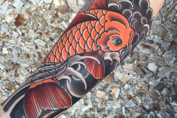 65+ Traditional Japanese Koi fish Tattoo Meaning and Designs – True Colors