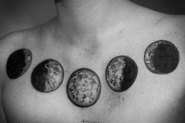 115+ Crescent and Full Moon Tattoo Designs & Meanings – Up in the Sky (2018)