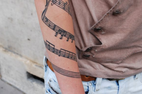 75+ Incredible Music Tattoo Ideas and Designs – Notes, Instruments, Hearts