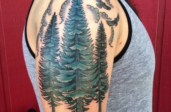 75+ Simple and Easy Pine Tree Tattoo – Designs & Meanings (2019)