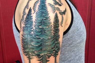 75+ Simple and Easy Pine Tree Tattoo – Designs & Meanings (2018)