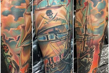 95+ Best Pirate Ship Tattoo Meaning and Designs – Masters of the Seas