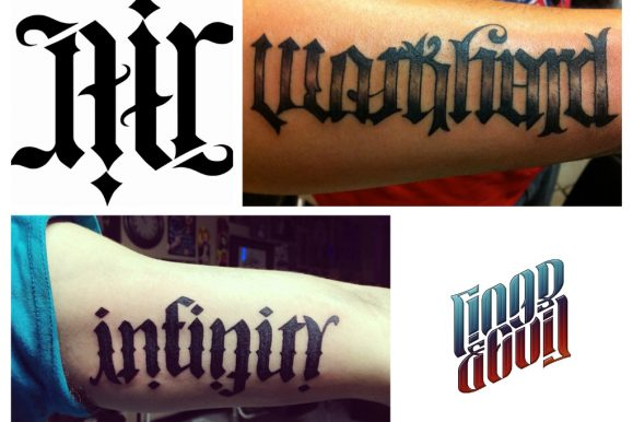 45 Rare Ambigram Tattoos Designs & Meanings – For Men & Women (2018)