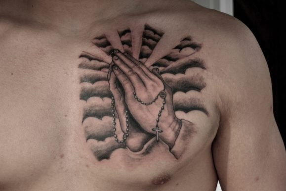65+ Images of Praying Hands Tattoos Designs & Meanings – Way to God (2018)