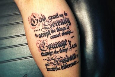 55 Inspiring Serenity Prayer Tattoo Designs – Serenity, Courage and Wisdom for a Prosperous Life