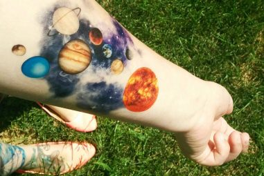 45 Facinating Solar System Tattoo Designs – Their Main Origin And Symbolism