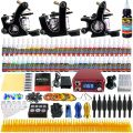 Solong Tattoo® Complete Tattoo Kit 3 Pro Machine Guns 54 Inks Power...