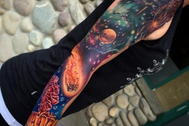 95+ Fascinating Space Tattoo Ideas- The Mysterious Nature of the Cosmos in Body Art