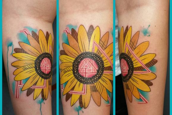 80+ Bright Sunflower Tattoos – Designs & Meanings for Happy Life (2019)